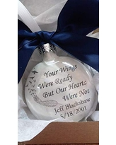 Memorial Ornament In Memory Christmas Your Wings Were Ready Our Hearts Were Not Personalized Gift