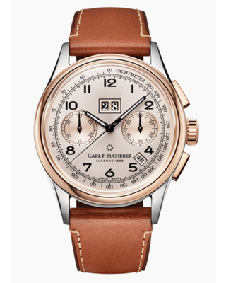 Carl F. Bucherer HERITAGE BICOMPAX ANNUAL Chronograph Tachymeter Champagne Dial Unisex Watch 10803.07.42.01
