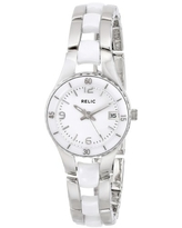 Relic by Fossil Women's Charlotte Quartz Two-Tone Stainless Steel Sport Watch, Color:Silver-Tone (Model:ZR11894)