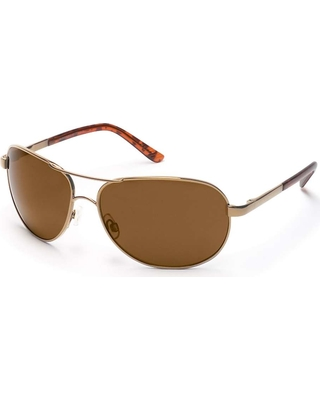 b67e331aae Suncloud Aviator Polarized Sunglasses - One Size - Gold   Brown Polarized