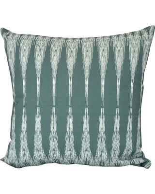 E BY DESIGN Peace Green Geometric 16 in. x 16 in. Throw Pillow