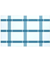 "Darby Home Co Reuben Plaid Print Throw Blanket DRBC6017 Size: 60"" L x 50"" W, Color: Teal (Light Blue/Teal)"