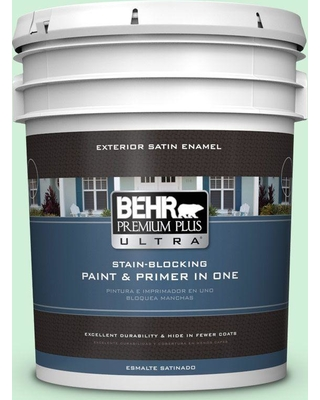 BEHR ULTRA 5 gal. #460A-2 Tropical Dream Satin Enamel Exterior Paint and Primer in One