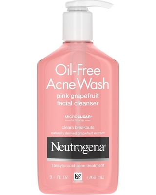 Neutrogena Oil-Free Pink Grapefruit Acne Facial Cleanser - 9.1 fl oz