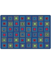 Carpets for Kids Premium Collection Literacy Squares Seating Kids Rug 321 Rug Size: Rectangle 8' x 12'