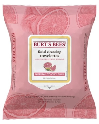30 Count, Burt's Bees Grapefruit Facial Towelettes, Normal to Oily Skin