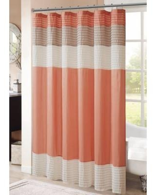 HipStyle Coral Amherst Shower Curtain