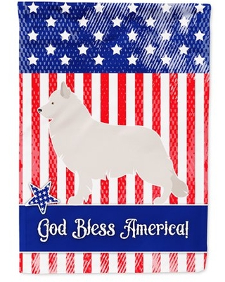 Berger Blanc Suisse American Flag Canvas House Size