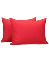 Ebern Designs Wessels Polyester Pillowcase W001808112 Color: Red