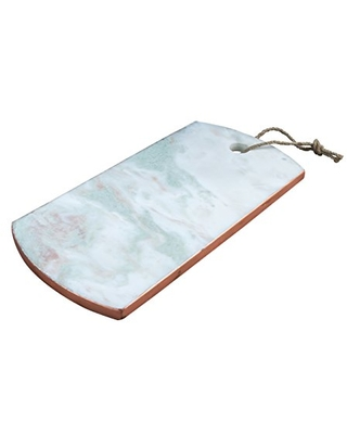 Thirstystone NMPTV22 Onxy Patina Vie Onyx Marble Serving Board with Copper Edging, One Size, White