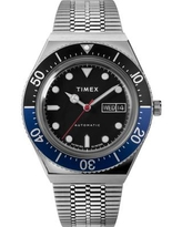 Timex Boutique Men's Lab Collab Silver-Tone Stainless Steel Bracelet Watch 40mm - Silver-Tone