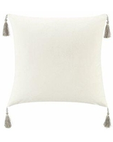 Don T Miss Sales On Waterford Andria Velvet Square Throw Pillow In Ivory