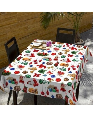 The Holiday Aisle Filson Christmas Decorations Motif Tablecloth BF072123
