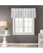Lillian Twisted Tab Valance With Beads - White - (50x26)