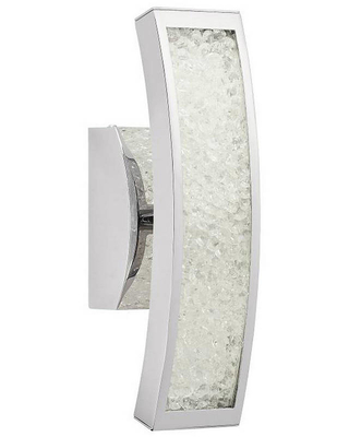 Elan Crushed Ice 13 inch 3800K LED Crystal Wall Sconce in Chrome
