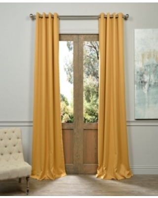 "Exclusive Fabrics & Furnishings Grommet Blackout 50"" x 96"" Curtain Panel"