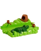 Bend A Path Alligator, Gate and Swamp Accessory - Green