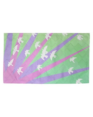 Remarkable Deals On Fawcett Birds And Sun Ombre Indoor Door Mat Ebern Designs Mat Size Rectangle 5 4 5 X 7 2