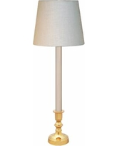 Simsbury Candlestick-Style Polished Brass Buffet Table Lamp