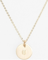 Women's Nashelle 14K-Gold Fill Initial Mini Circle Necklace