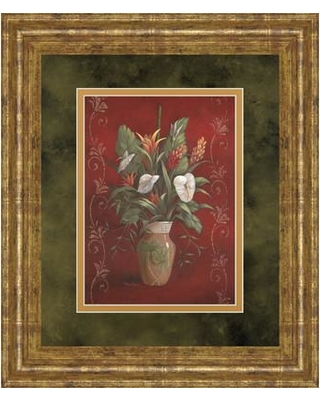 Classy Art Wholesalers Marlow's Bouquet I by Vivian Flasch Framed Painting Print DM2173