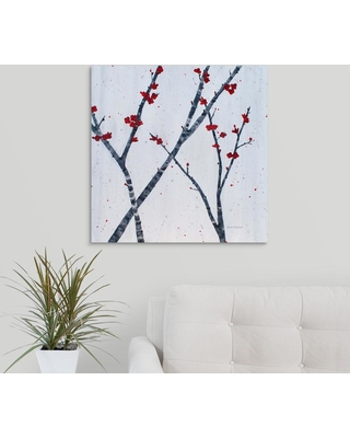 """Great Big Canvas """"Red Blooms"""" by Herb Dickinson Canvas Wall Art, Multi-Color"""