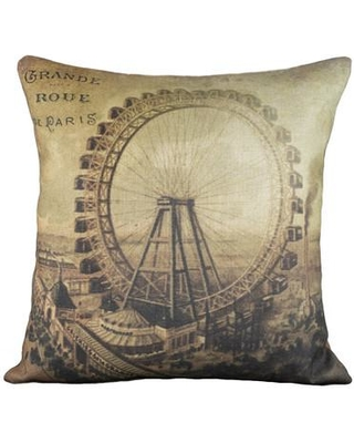 Savings On Thewatsonshop Grande Roue Cotton Throw Pillow Polyester Polyfill Cotton Blend In Brown Size 16x16 Wayfair Lgrandroue16