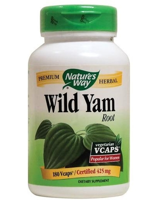 Nature's Way Wild Yam Root 425 mg 180 Vcaps Digestive Health and Fiber