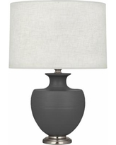 Michael Berman Atlas Nickel and Ash Ceramic Table Lamp