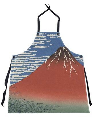 East Urban Home Katsushika Hokusai Fine Wind Clear Morning Apron W001613867 Color: Red/Blue