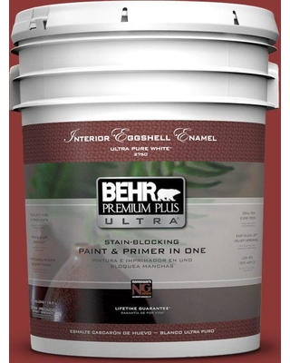 BEHR Premium Plus Ultra 5 gal. #ppf-40 Rocking Chair Red Eggshell Enamel Interior Paint and Primer in One