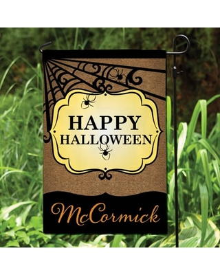 Happy Halloween Personalized Garden Flag