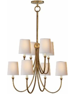 Visual Comfort and Co. Thomas O'Brien Reed 26 Inch 8 Light Chandelier - TOB 5010HAB-NP