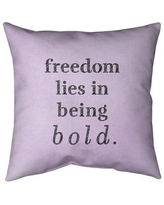Amazing Deal On Quotes Handwritten Be Bold Inspirational Quote Pillow Faux Linen 16 X 16 Square Zipper Closure Medium Linen Removable Cover Accent