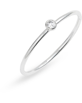 Set & Stones Presley Stacking Ring, Size 7 in Silver/Clear at Nordstrom