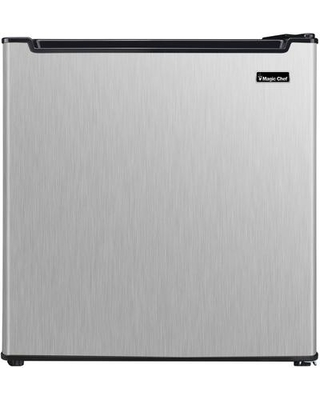 """MCAR170STE 18"""" Mini Refrigerator with 1.7 cu. ft. Capacity Compressor Cooling Wire Shelf and Recessed Handle in Stainless"""