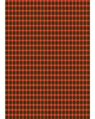 East Urban Home Lueck Geometric Wool Red Area Rug W001724849 Rug Size: Rectangle 3' x 5'