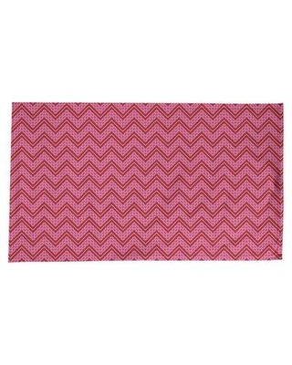 "ArtVerse Festive Hol Tablecloth, Cotton Blend in Pink/Maroon, Size 102"" L x 58"" W 