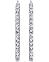 14K White Gold 1/2ct TDW Diamond Hoop Earrings (I-J, I1)