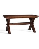"Toscana Extending Dining Table, 60 x 38"" Tuscan Chestnut stain"