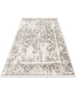 Bungalow Rose Sherrill Gray Floral Area Rug BNRS1204 Rug Size: Rectangle 4' x 6'
