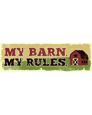 New Deal On Artistic Reflections My Barn My Rules By Tonya Gunn Textual Art On Plaque In Red Green Size Mini 10 17 Wayfair Wp5064