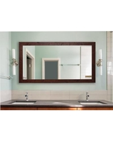 "Loon Peak Rustic Dark Walnut Accent Mirror LNPE8007 Size: 65.5"" H x 30.5"" W x 0.75"" D"