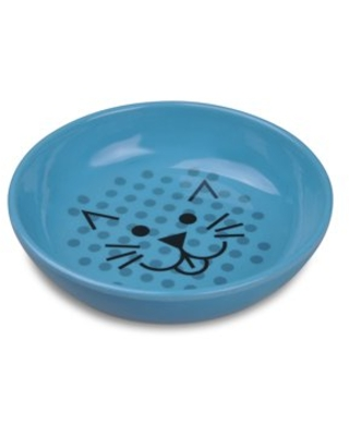 Van Ness Ecoware Cat Dish, Pacific Blue, 8 Ounce, Single Dish, Non-skid Silicone Base, for Cats