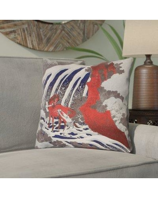 """Bloomsbury Market Yasmina Contemporary Graphic Horse and Waterfall Throw Pillow CMNL5940 Size: 20"""" x 20"""""""