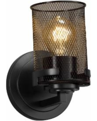 Justice Design Group Wire Mesh 8 Inch Wall Sconce - MSH-8451-10-MBLK