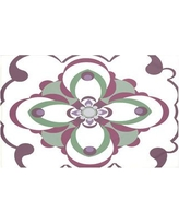 "Bungalow Rose Souihla Too Geometric Print Throw Blanket BNGL6467 Size: 60"" L x 50"" W, Color: Wine (Off White/Purple)"