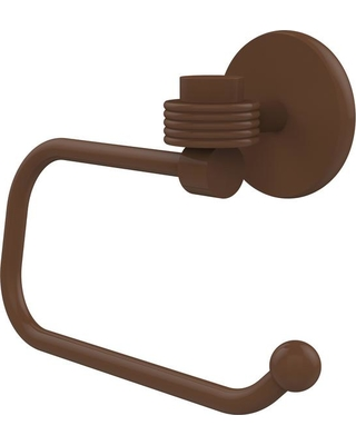 AVONDALE DECOR Satellite Orbit One Collection Euro Style Single Post Toilet Paper Holder with Groovy Accents in Antique Bronze