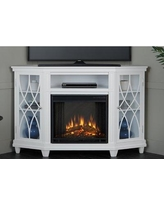 Real Flame Lynette Corner Electric Fireplace TV Stand 1750E-W Color: White