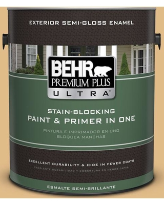 BEHR ULTRA 1 gal. #M280-4 Royal Gold Semi-Gloss Enamel Exterior Paint and Primer in One